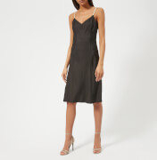 Helmut Lang Women's Compact Viscose Slip Dress - Black - US 4/UK 8 - Black