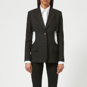 Helmut Lang Women's Cutout Canvas Blazer - Black - US 6/UK 10 - Black