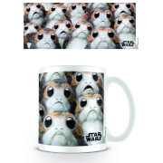 Star Wars The Last Jedi Many Porgs Coffee Mug