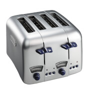 De'Longhi CT04.C Argento 4 Slice Toaster - Stainless Steel