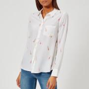 Rails Women's Kate Rose Print Shirt - White - L - White