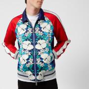 Dsquared2 Men's Ibisco Printed Nylon Bomber Jacket - Blue/White Flower - L - Blue
