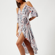 MINKPINK Women's Lavender Love Wrap Midi Dress - Lilac