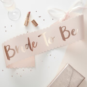 Ginger Ray Bride to Be Sash - Pink/Rose Gold