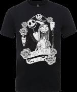Disney The Nightmare Before Christmas Jack Skellington And Sally Black T-Shirt