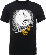 The Nightmare Before Christmas Jack Skellington Pumpkin King Black T-Shirt