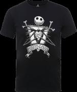 The Nightmare Before Christmas Jack Skellington Misfit Love Black T-Shirt