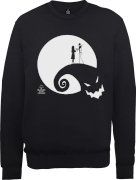 The Nightmare Before Christmas Jack And Sally Moon Black Sweatshirt