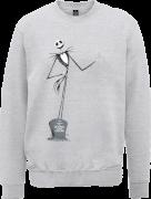 The Nightmare Before Christmas Jack Skellington Full Body Grey Sweatshirt