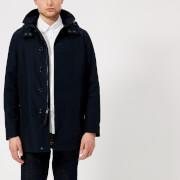 Woolrich Men's Brady Coat - Melton Blue - M - Blue