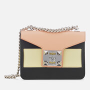 SALAR Women's Mila Multi Bag - Peach Banana Black