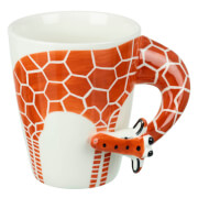 Parlane Giraffe Mug - White/Orange