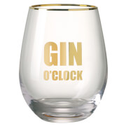 Parlane Gin O'Clock Glass - Clear/Gold