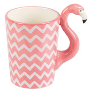 Tasse à Chevron Flamant Rose Ziggy - Sass & Belle