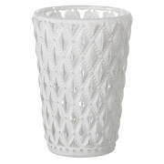 Parlane Lattice Glass Tealight Holder - White