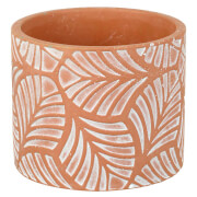Parlane Leaves Concrete Planter - Terracotta (10 x 12cm)
