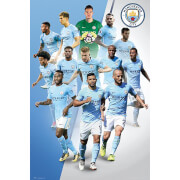 Manchester City Players 17/18 Maxi Poster 61 x 91.5cm
