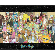 Rick and Morty Cast Mini Poster 40 x 50cm image