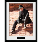 Westworld Man in Black Sit Framed Photograph 12 x 16 Inch