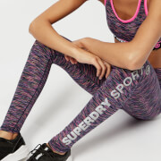 Superdry Sport Women's Space Dye Leggings - Miami Slub