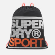 Superdry Sport Men's Drawstring Bag - Black-Fluro Orange