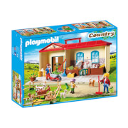 Playmobil Country Take Along Farm with Carry Handle and Fold-Out Stables (4897)