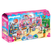 Playmobil City Life Shopping Plaza With Sports, Pet And Clothing Retailers (9078)