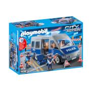 Playmobil : Fourgon de policiers avec matériel de barrage (9236)