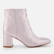 Rebecca Minkoff Women's Stefania Metallic Heeled Ankle Boots - Rock Pink - UK 3 - Pink
