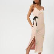 Three Floor Women's Slim Pin Sequin Dress - Blush - UK 10 - Nude