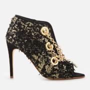 Rupert Sanderson Women's Nightingale Venus Suede Heeled Shoe Boots - Black - UK 2 - Black