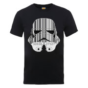 Star Wars Stormtrooper Barcode T-Shirt - Black