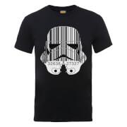 Star Wars Stormtrooper Barcode T-Shirt - Schwarz