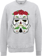 Sweat Homme Day of the Dead Stormtrooper - Star Wars - Gris