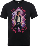 T-Shirt Homme Han Solo Tall Dark - Star Wars - Noir