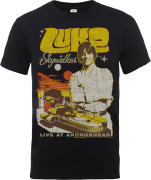 Star Wars Luke Skywalker Rock Poster T-Shirt - Black