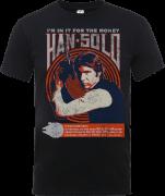 Star Wars Han Solo Retro Poster T-Shirt - Black