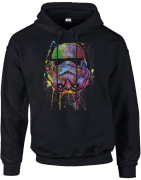 Star Wars Paint Splat Stormtrooper Pullover Hoodie - Black