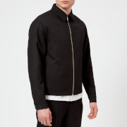 Lemaire Men's Wool Gabardine Short Blouson Jacket - Black - EU 48/M - Black
