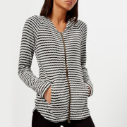 Pepper & Mayne Women's Fine Gauge Scallop Knit Hoody - White/Black - UK 8 - White