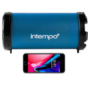 Intempo Large Wireless Bluetooth Tube Speaker - Navy Blue