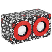 Intempo Mini Blaster Speaker - Red Skulls