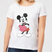 Camiseta Disney Mickey Mouse Regalo Corazón - Mujer - Blanco - M - Blanco