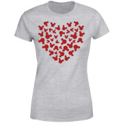 Disney Mickey Mouse Heart Silhouette Women's T-Shirt - Grey