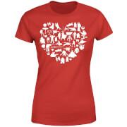 Star Wars Valentine's Heart Montage Frauen T-Shirt - Rot
