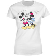 Disney Mickey Mouse Minnie Kiss Frauen T-Shirt - Weiß