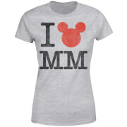 Disney Mickey Mouse I Heart MM Frauen T-Shirt - Grau