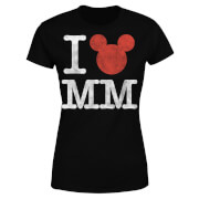 T-Shirt Femme I Heart MM Mickey Mouse (Disney) - Noir