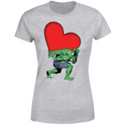 Marvel Comics Hulk Heart Women's T-Shirt - Grey