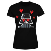 Star Wars Valentine's Vader In Love Women's T-Shirt - Black